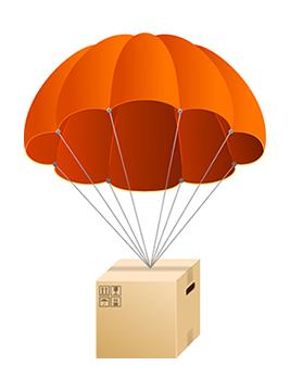 Parachute parcel