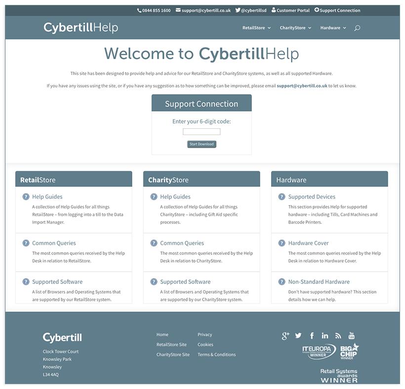 Cybertill help site